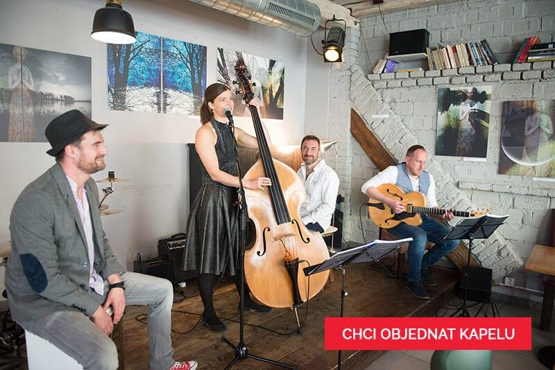 Jazz In deck kapela na svatbu - natáčení v Činoherním klubu